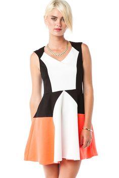 Glendera Dress / ShopSosie #Colorblock #Dress #CutOut #ShopSosie