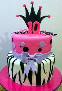 I would do this and change the number at the top ;       Cake Decorating: Birthday Cake for 10 yr old girl