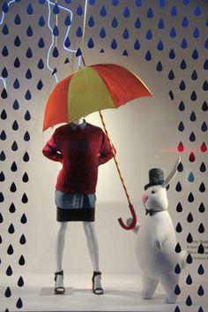 rainingday/umbrella with rian drops