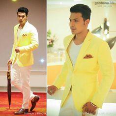 Raaj Saravanan influencing linen yellow jacket and white trousers at the launch of Osman Abdul Razak - Private Label FPW'16  #DapperDa #osmanabdulrazak #menswearinfluencer #privatelabel #OAR #fpw16 #yellow #white #chennai #gabbanalife #knkroad #chennaibouncesback #chennaigoesdapperda