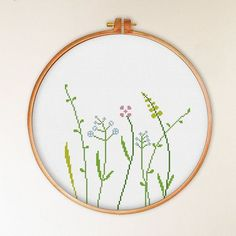 Wildflower cross stitch pattern
