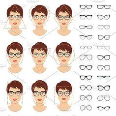 Round faces should ideally opt for narrow and wider rectangular eyewear.  Eliene Costa · Formatos de Rostos. Ver mais 3380426cc0