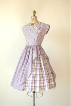 1940s day dress via Dalena Vintage