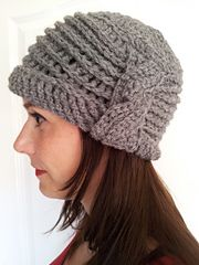 Boutique Ribbed Cable Cloche - Crochet Version by Guinevere Parisi
