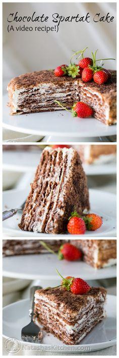 Chocolate Spartak Cake (Video Tutorial) from @natashaskitchen
