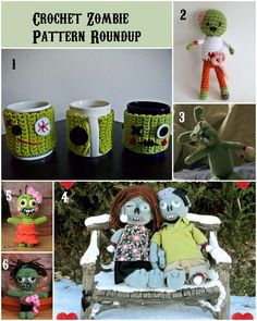 Get ready for Halloween terror! Check out this Crochet Zombie Pattern Roundup Tutorial ✿⊱╮Teresa Restegui http://www.pinterest.com/teretegui/✿⊱╮