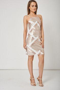 Sleeveless Midi Sequin Dress Ex-Branded