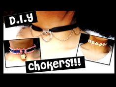CHOKERS!! gargantillas diy kawaii - YouTube
