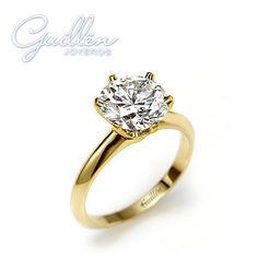 ¿Te gusta el Oro Amarillo? Que te parece este #AnillosdeCompromiso de #GuillenJoyeros