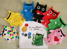 The Colour Monster 7 monsters set Puppet Edition Funny Monsters, Tot School, Little Monsters, Stories For Kids, Marketing And Advertising, Suzanne Collins, Etsy, Puppets, Little Ones