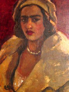 Amrita Sher-Gil self portrait