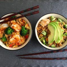"""Quinoa """"Fried Rice"""" HealthyAperture.com"""