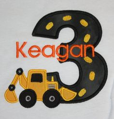 Renae- Made me think of Jayden  : )Greatstitch Digger Birthday Shirt Boy 2nd by GreatStitch, $21.95