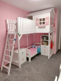 7502494075 – Sale ended - Kinderzimmer Kids Room Bed, Bunk Beds For Girls Room, Little Girl Bedrooms, Bedroom For Girls Kids, Cool Kids Bedrooms, Kids Bedroom Designs, Kids Room Design, Kid Beds, Girl Room