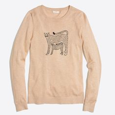 Embroidered cheetah Teddie sweater : FactoryWomen Pullovers | Factory