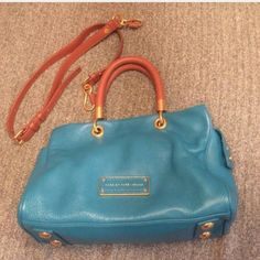 MARC BY MARC JACOBS small tote NWOT, beautiful leather bag no imperfections no cracks in handles gorgeous brass hardware no trades please don't ask use the offer button bag is sold out in stores length 29 centimeters - 20.5 centimeters width 13 centimeters handle drop 12 centimeters shoulder strap drop at Max 67 centimeters Marc by Marc Jacobs Bags Totes