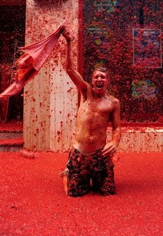 SPAIN! Oh Yes! Did it once and will do it again! http://www.tomatofestivalspain.com/ , Buñol, Spain! #Spain