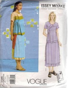 Vogue Designer Sewing Pattern 2566 Issey Miyake Top & Skirt, All Sizes, Uncut #Patterns