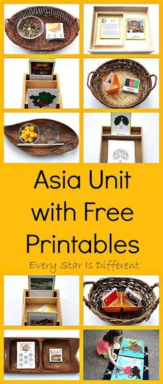 Montessori-inspired Asia Unit with free printables