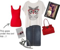 """""""Owl always love red and black"""" by snickersmama on Polyvore"""