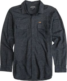 For the guys - RVCA long sleeve gray flannel shirt… New Look Fashion, Stylish Mens Fashion, Long Flannel Shirts, Cool Outfits, Fashion Outfits, Denim Fashion, Couple Shirts, Men Sweater, My Style