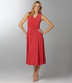 Jones New York Signature Matte Jersey Dress  coral <$150