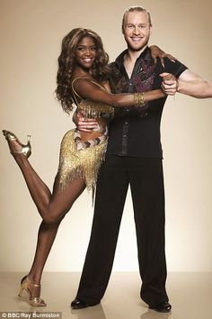 Let's do this: Oti Mabuse, who reached the final with Danny Mac last year, looked more than happy to be in the arms of the show's first Paralympian, who perhaps proved he was already a natural by drawing the Brazilian into hold in the snap