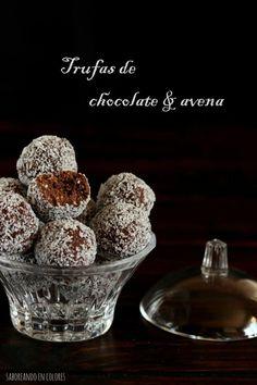 Trufas de chocolate y avena