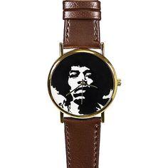 Jimi Hendrix Silhouette Watch, Vintage Style Leather Watch, Men's Watch, Women Watches, Boyfriend Watch,