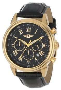 gold watches men invicta invicta men s 1503 chronograph 18k gold best deal on invicta men s invicta i gold plated stainless steel watch black leather band discover this and many other bargains in crazy by deals