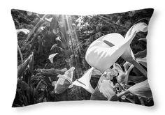 "Calla Lilies and Sun Rays Throw Pillow 20"" x 14"""