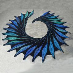 Knitting Tea Party 5 April 13 Dreambird shawl