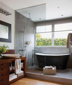 #baños #modernos #jacuzzi #bañadera #deco #arquitectura #casas https://revistavivelatinoamerica.com/2016/02/19/decoracion-de-banos-en-diferentes-estilos/