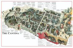 Cutaway of the infamous Cantina