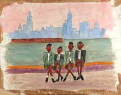 Boy's Sunday Trip by William H. Johnson / American Art