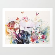 Buy dreamy insomnia Art Print by agnes-cecile. Worldwide shipping available at Society6.com. Just one of millions of high quality products available.