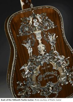 Back of the millionth Martin Guitar.