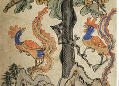 정겨운 우리그림, 민화를 탐하다 Korean Painting, Korean Traditional, Traditional Paintings, Art Inspo, Folk Art, Rooster, Moose Art, Birds, Animals