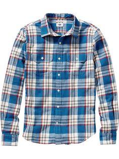Men's Plaid Flannel Shirts Product Image