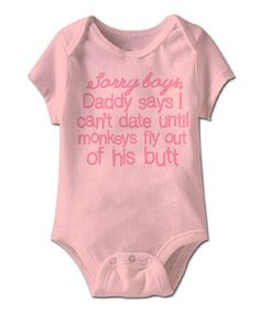 Another great find on #zulily! Light Pink 'Sorry Boys' Bodysuit - Infant #zulilyfinds