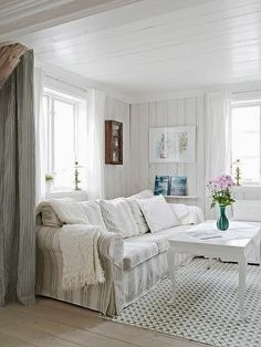 FRENCH COUNTRY COTTAGE: Knotty pine love...I would love the ceiling for our den