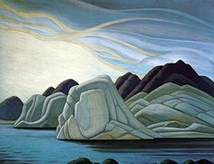 Lawren Harris Canadian Painters, Canadian Artists, New Artists, Famous Artists, Group Of Seven Art, Group Of Seven Paintings, Landscape Drawings, Landscape Art, Landscape Paintings