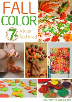 A collection of kids activities celebrating fall & Color!  #ece #art #craft