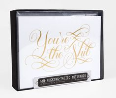Calligraphuck - Fan-F-ing-Tastic Notecards