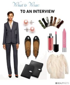 Interview outfit idea for women-from head to toe (accessories, makeup, etc...)