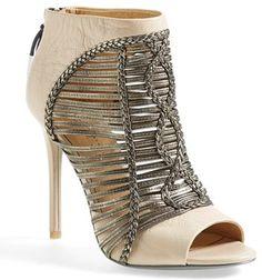 L.A.M.B. 'Kacee' Peeptoe Bootie (Women) on shopstyle.com