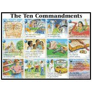 NIV Ten Commandments (pictures), Laminated Wall Chart   -