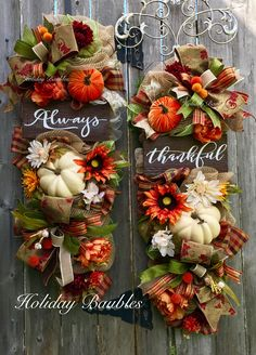 Incroyable Always Thankful Fall Swags By Holiday Baubles