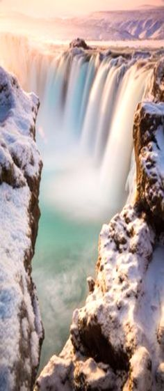 Photo Godafoss waterfall in Iceland in winter by Ed Graham on 500px