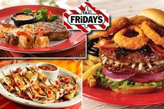 See the complete Tgi Fridays Menu with prices here, including the TGIF menu for  steaks & burgers and the TGI Fridays Happy Hour drinks menu, plus a list of current TGIF deals and specials.